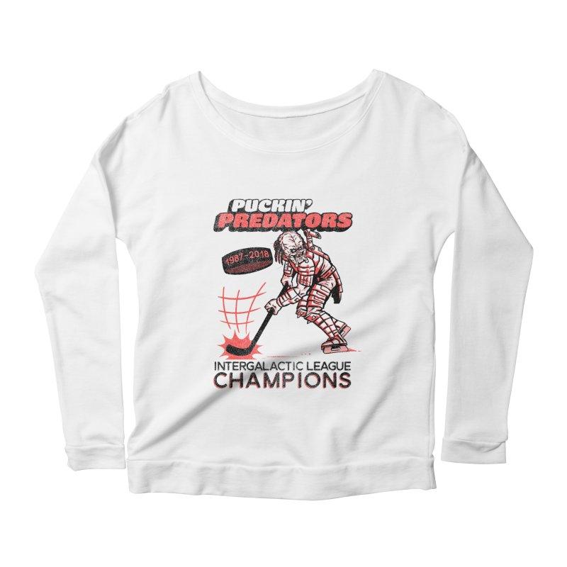 Puckin' Predators Women's Scoop Neck Longsleeve T-Shirt by Gimetzco's Damaged Goods