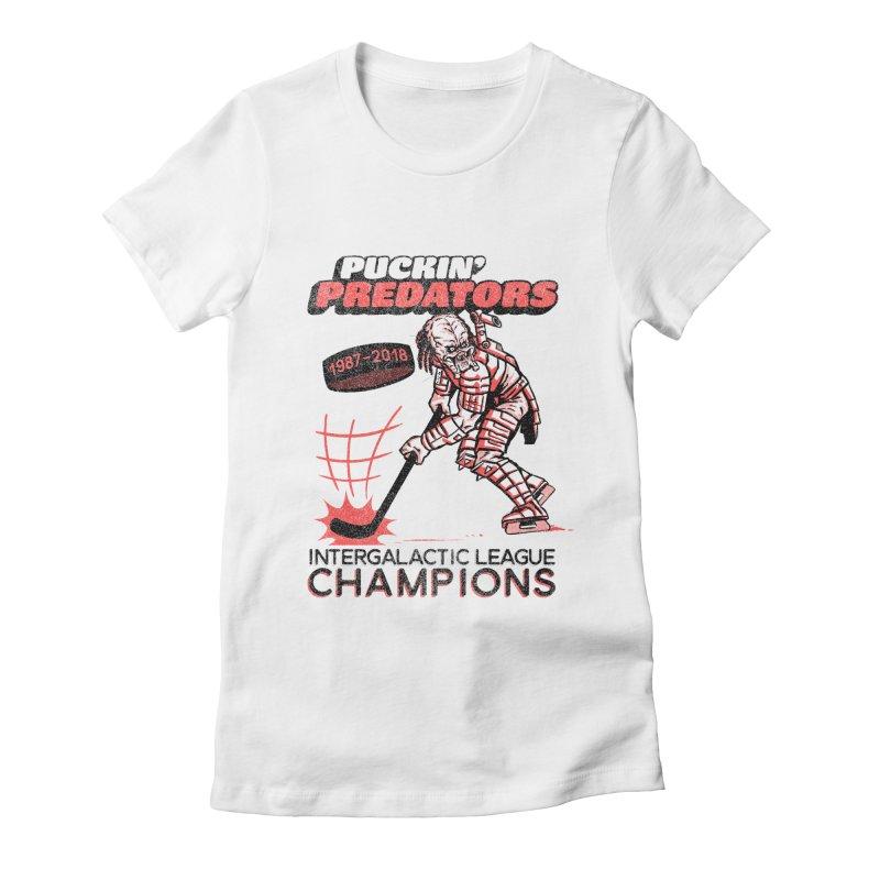 Puckin' Predators Women's Fitted T-Shirt by Gimetzco's Damaged Goods