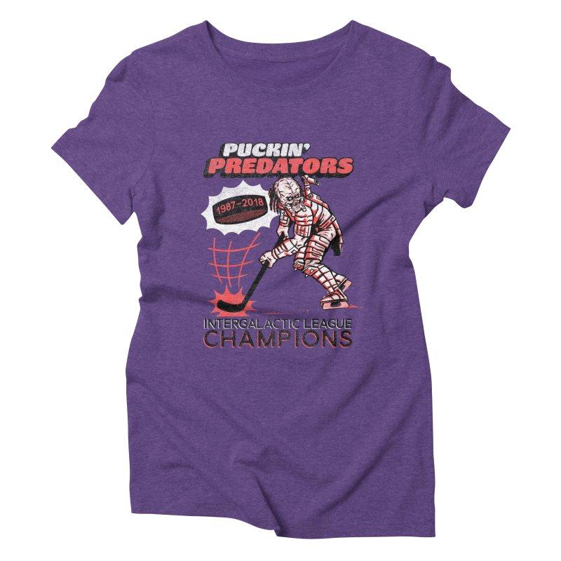 Puckin' Predators Women's Triblend T-Shirt by Gimetzco's Damaged Goods