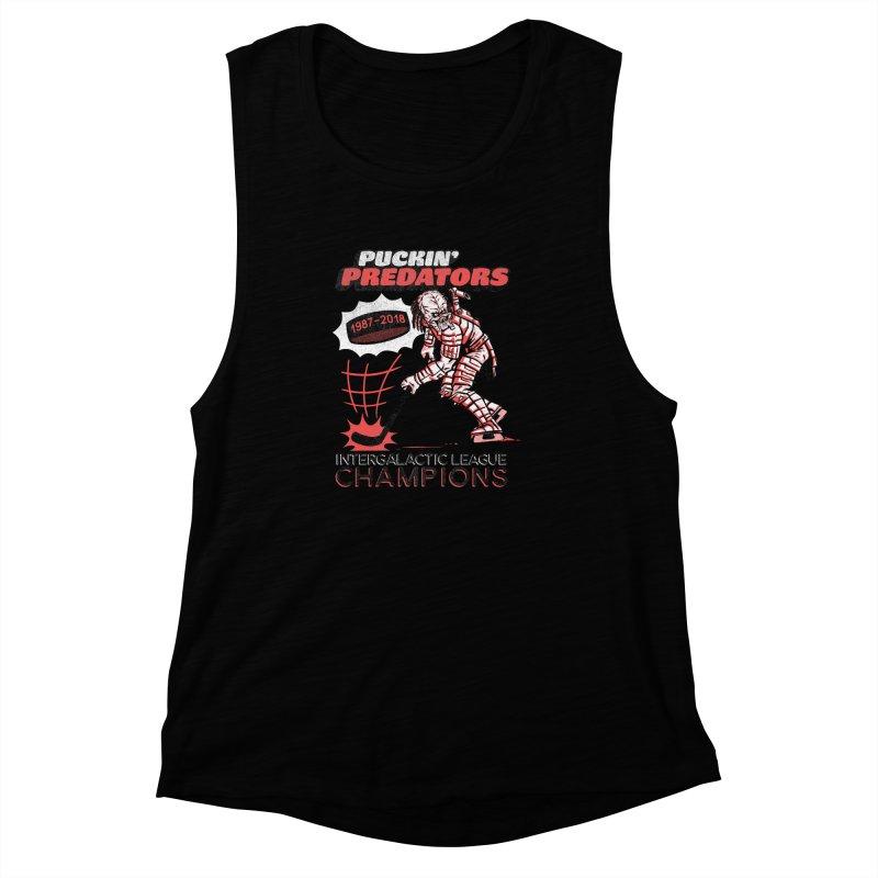 Puckin' Predators Women's Muscle Tank by Gimetzco's Damaged Goods