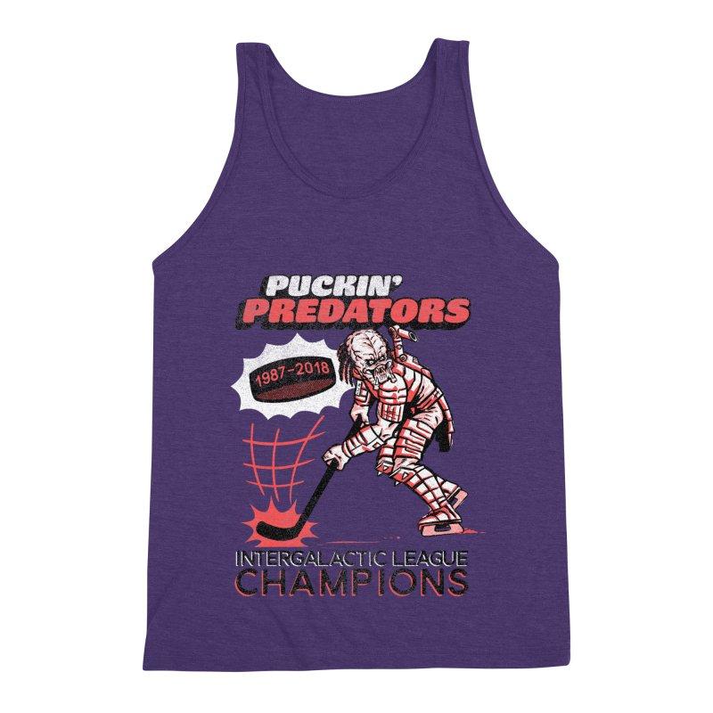 Puckin' Predators Men's Triblend Tank by Gimetzco's Damaged Goods