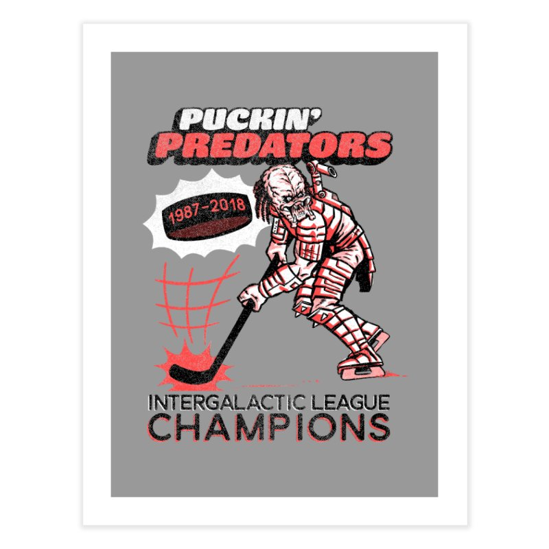 Puckin' Predators Home Fine Art Print by Gimetzco's Damaged Goods