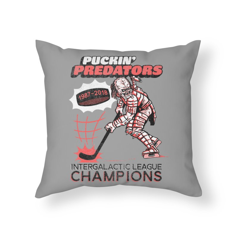 Puckin' Predators Home Throw Pillow by Gimetzco's Damaged Goods