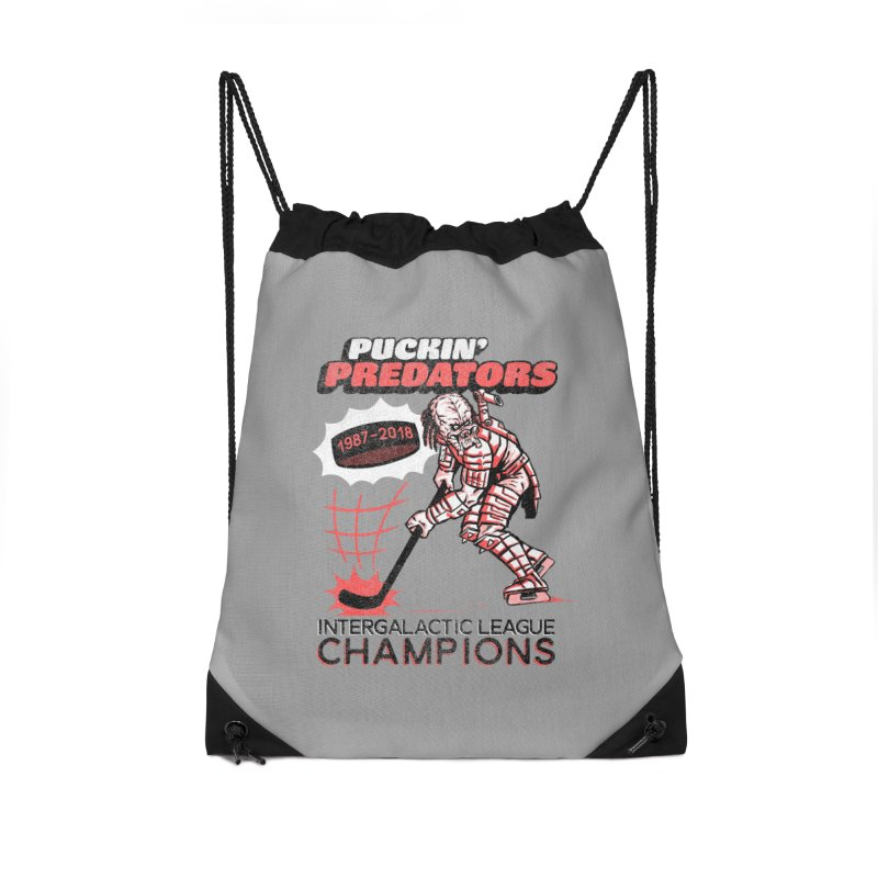 Puckin' Predators Accessories Drawstring Bag Bag by Gimetzco's Damaged Goods