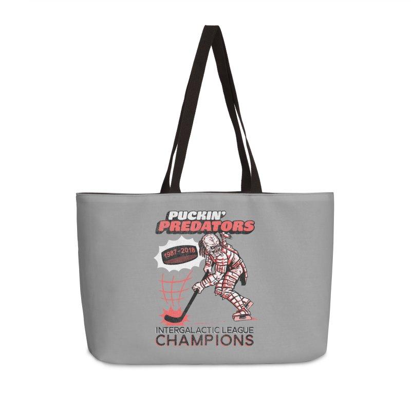 Puckin' Predators Accessories Weekender Bag Bag by Gimetzco's Damaged Goods