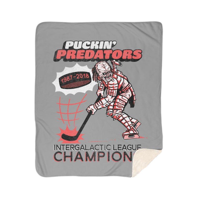 Puckin' Predators Home Blanket by Gimetzco's Damaged Goods