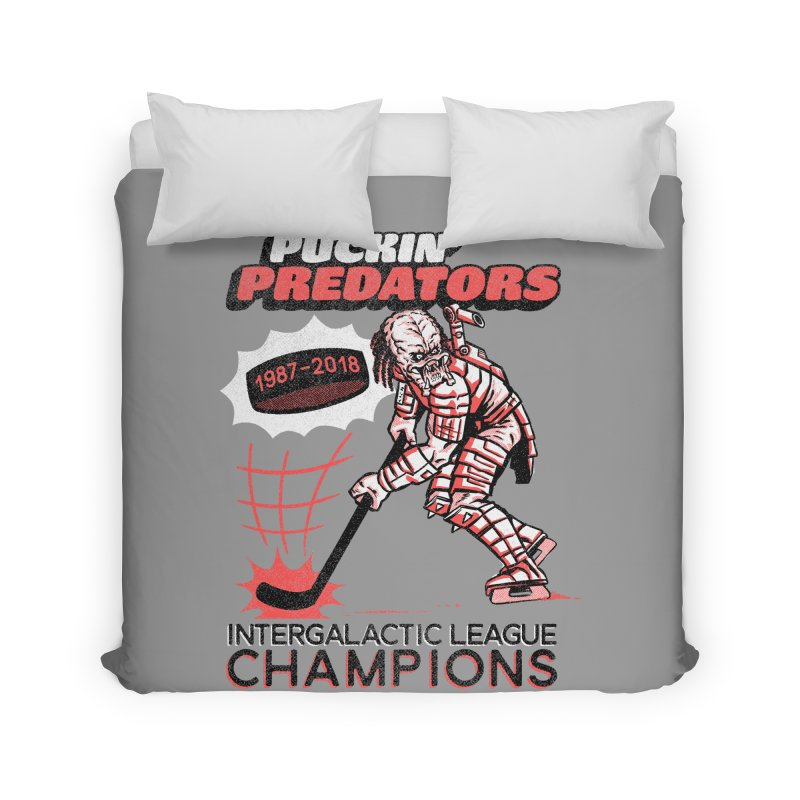 Puckin' Predators Home Duvet by Gimetzco's Damaged Goods