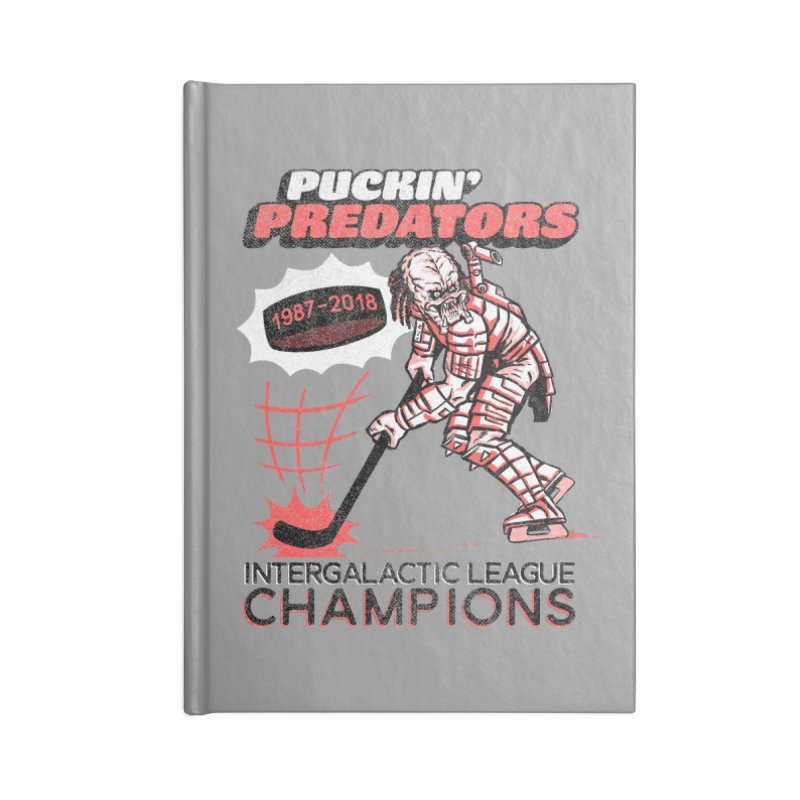 Puckin' Predators Accessories Blank Journal Notebook by Gimetzco's Damaged Goods