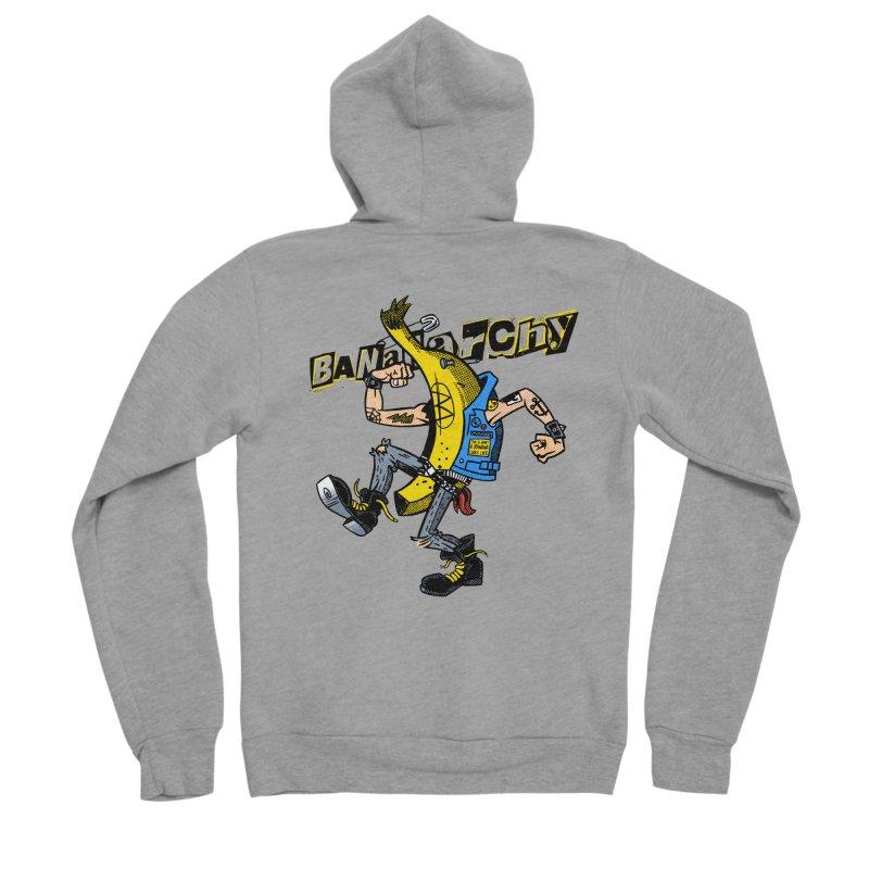 bananarchy Men's Sponge Fleece Zip-Up Hoody by Gimetzco's Damaged Goods