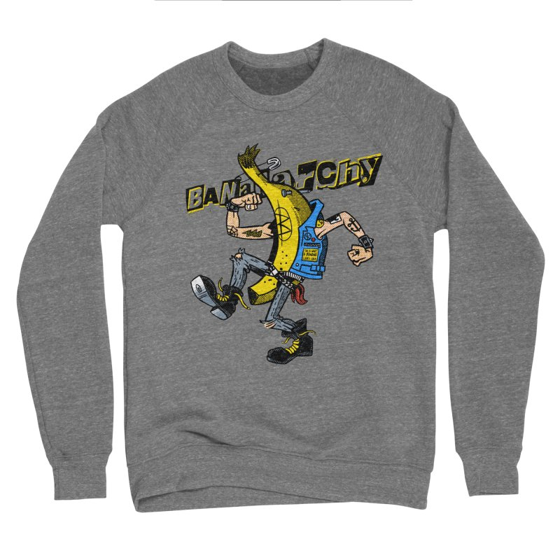 bananarchy Men's Sponge Fleece Sweatshirt by Gimetzco's Damaged Goods