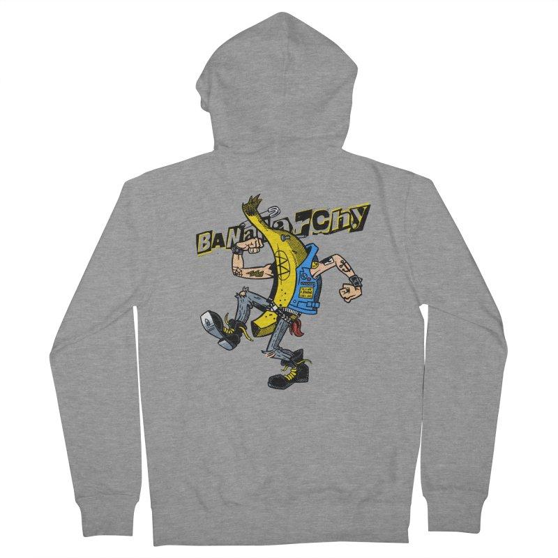 bananarchy Men's Zip-Up Hoody by Gimetzco's Damaged Goods