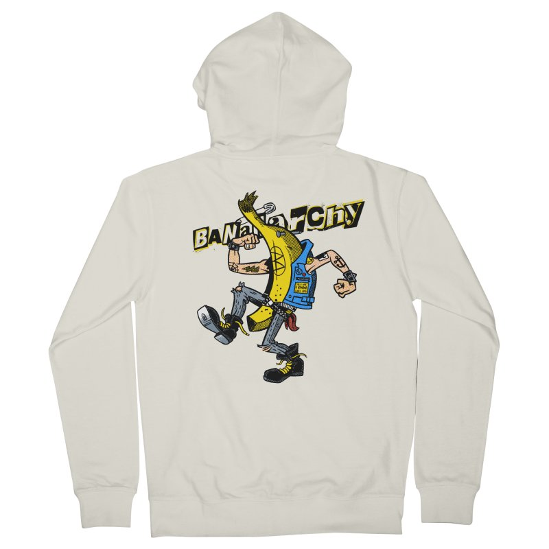 bananarchy Men's French Terry Zip-Up Hoody by Gimetzco's Damaged Goods