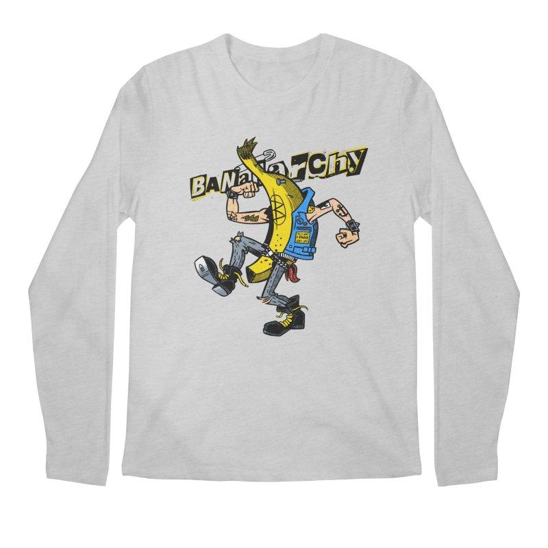 bananarchy Men's Regular Longsleeve T-Shirt by Gimetzco's Damaged Goods