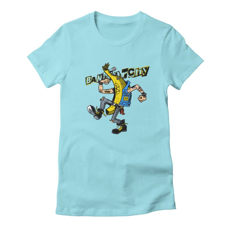 bananarchy Women's Fitted T-Shirt by Gimetzco's Damaged Goods