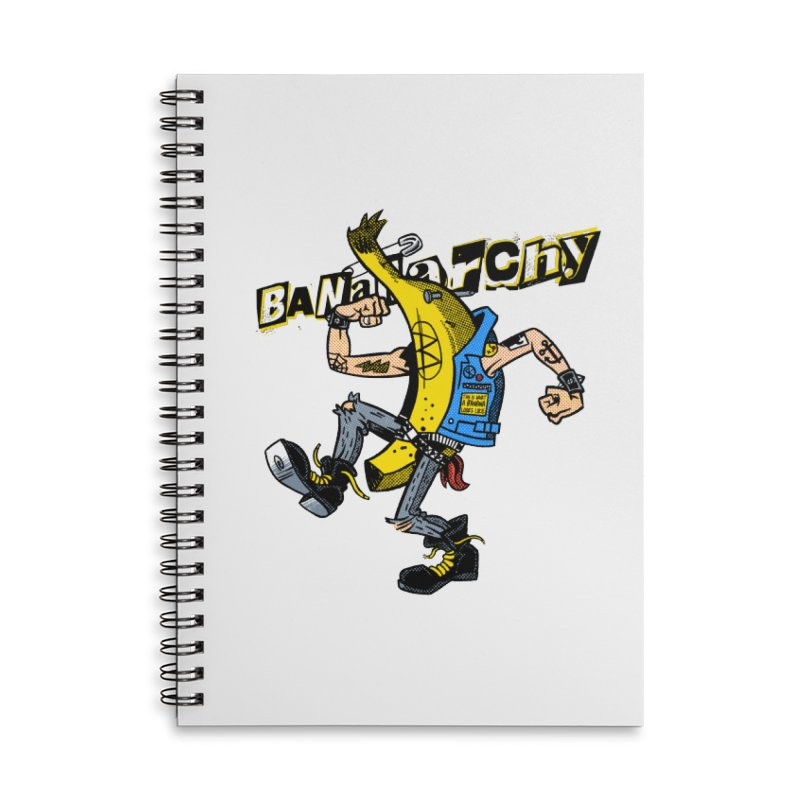 bananarchy Accessories Lined Spiral Notebook by Gimetzco's Damaged Goods