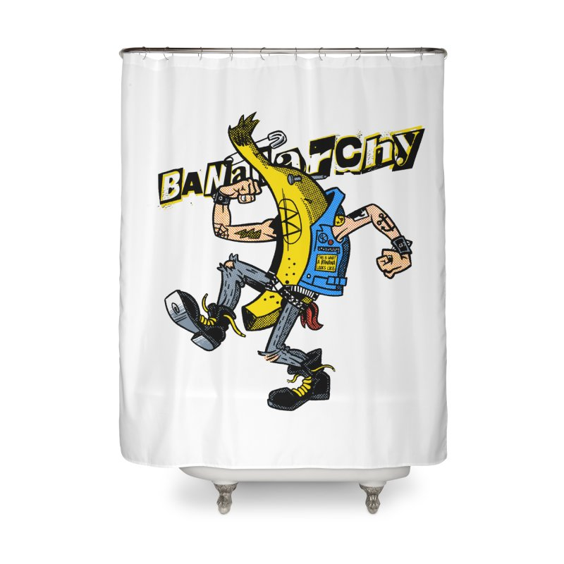 bananarchy Home Shower Curtain by Gimetzco's Damaged Goods
