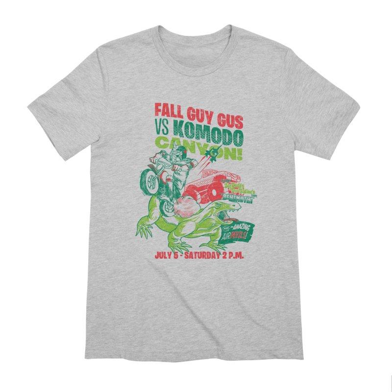 Fall Guy Gus Men's Extra Soft T-Shirt by Gimetzco's Damaged Goods
