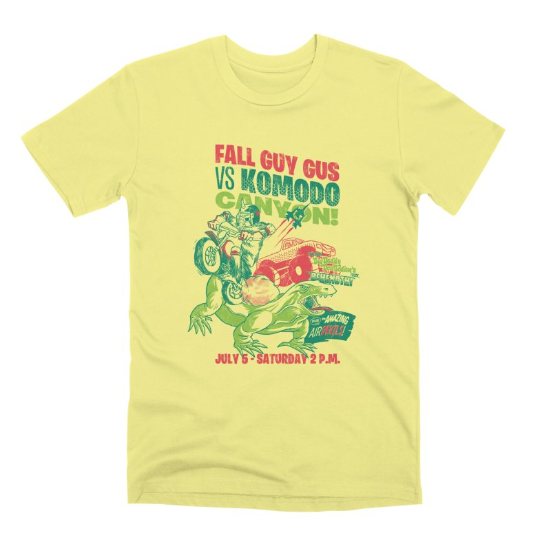 Fall Guy Gus Men's Premium T-Shirt by Gimetzco's Damaged Goods