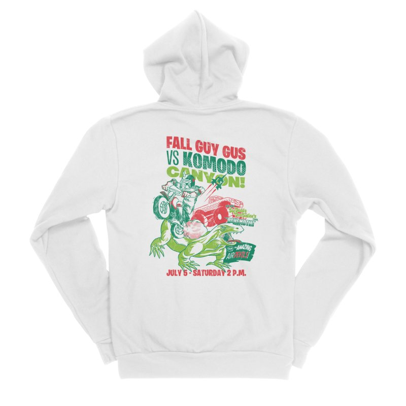 Fall Guy Gus Women's Sponge Fleece Zip-Up Hoody by Gimetzco's Damaged Goods