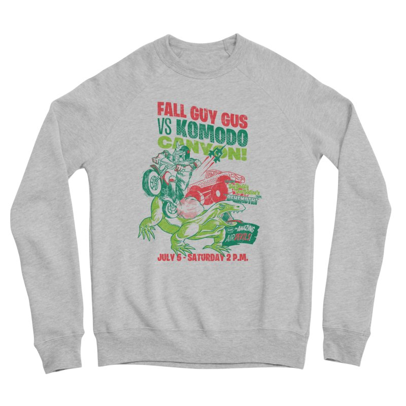 Fall Guy Gus Men's Sponge Fleece Sweatshirt by Gimetzco's Damaged Goods