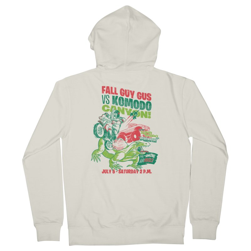 Fall Guy Gus Women's French Terry Zip-Up Hoody by Gimetzco's Damaged Goods