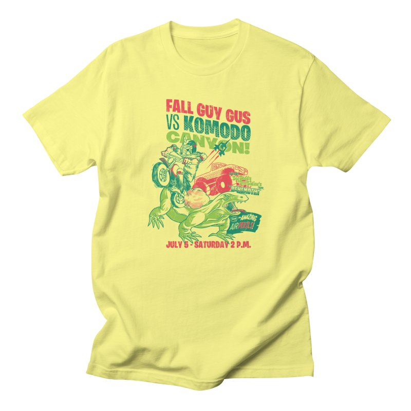 Fall Guy Gus Men's Regular T-Shirt by Gimetzco's Damaged Goods