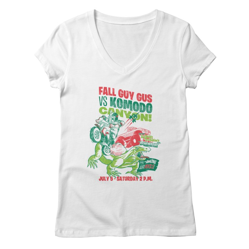 Fall Guy Gus Women's Regular V-Neck by Gimetzco's Damaged Goods