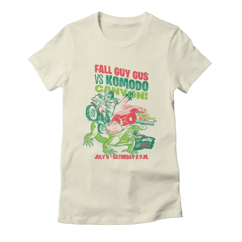 Fall Guy Gus Women's Fitted T-Shirt by Gimetzco's Damaged Goods