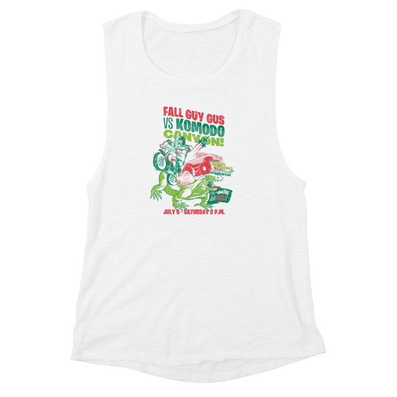 Fall Guy Gus Women's Muscle Tank by Gimetzco's Damaged Goods