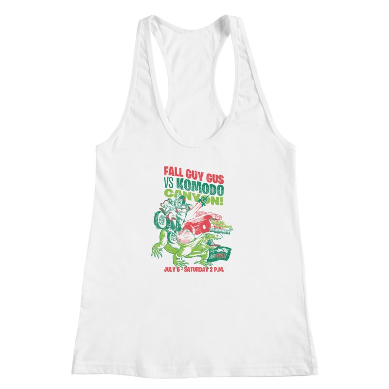 Fall Guy Gus Women's Racerback Tank by Gimetzco's Damaged Goods