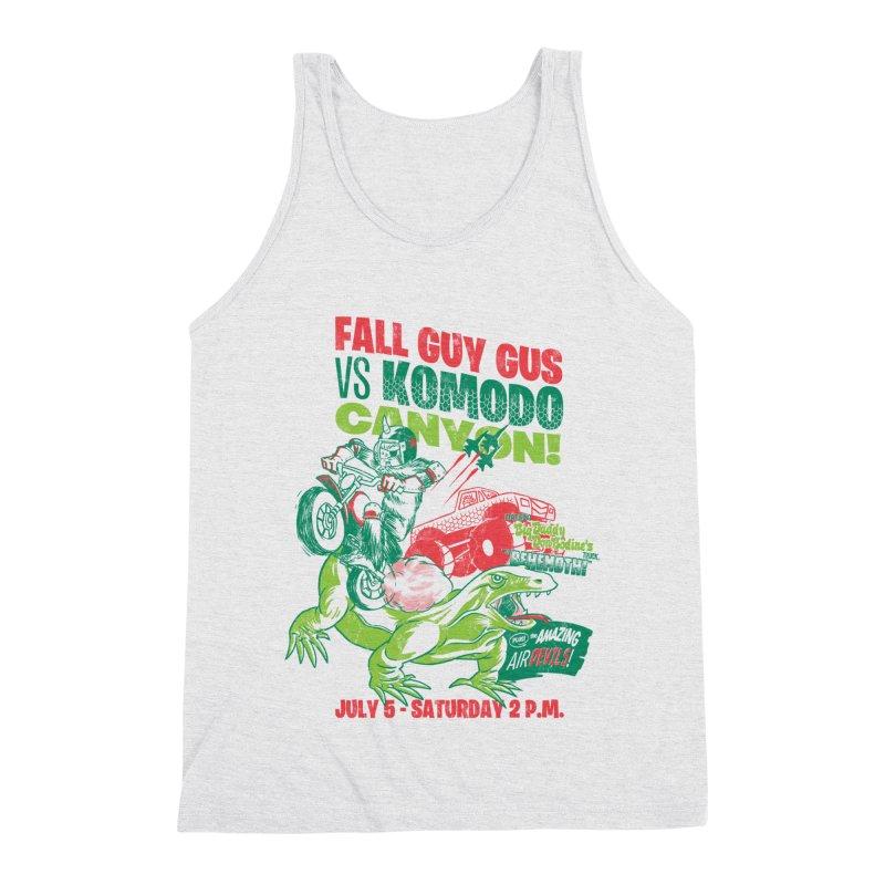 Fall Guy Gus Men's Triblend Tank by Gimetzco's Damaged Goods