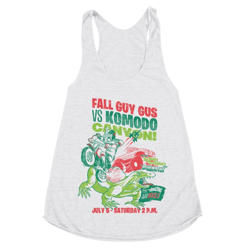 Fall Guy Gus Women's Racerback Triblend Tank by Gimetzco's Damaged Goods