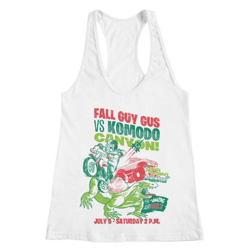 Fall Guy Gus Women's Racerback Tank by Gimetzco's Damaged Goods