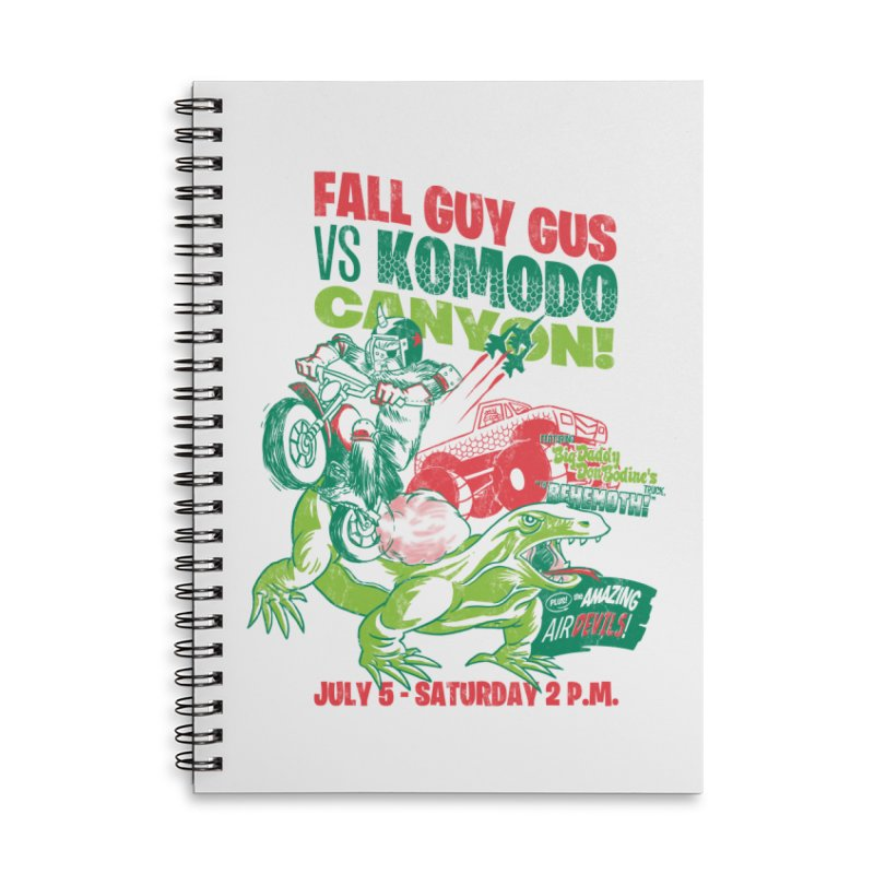 Fall Guy Gus Accessories Lined Spiral Notebook by Gimetzco's Damaged Goods