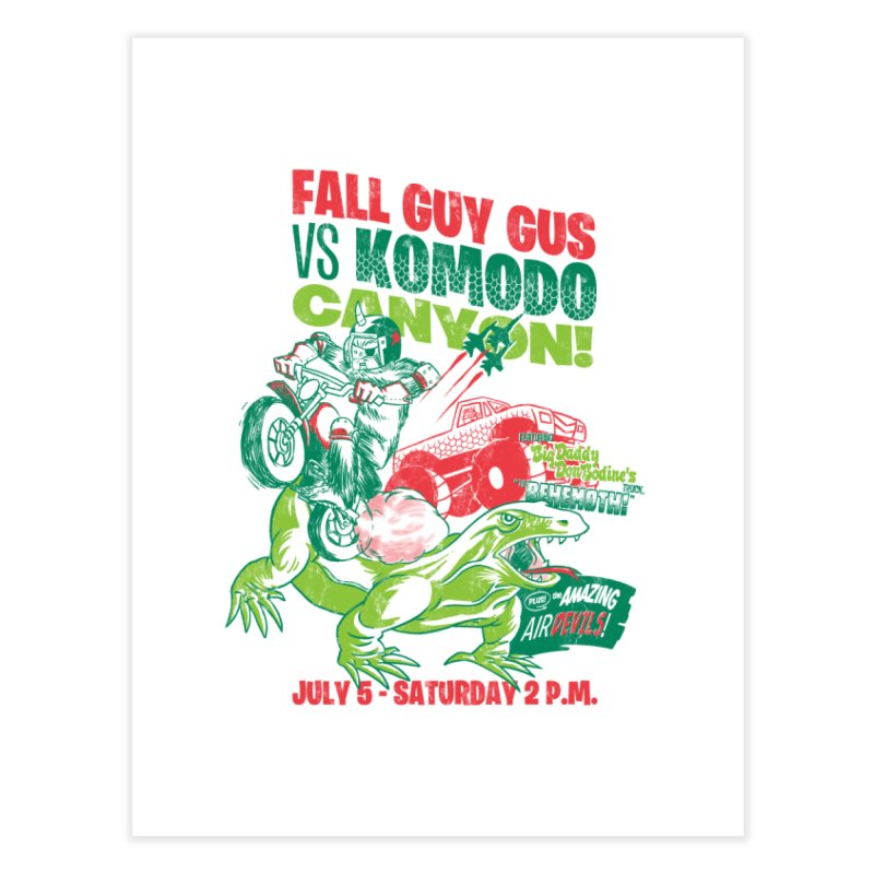 Fall Guy Gus Home Fine Art Print by Gimetzco's Damaged Goods