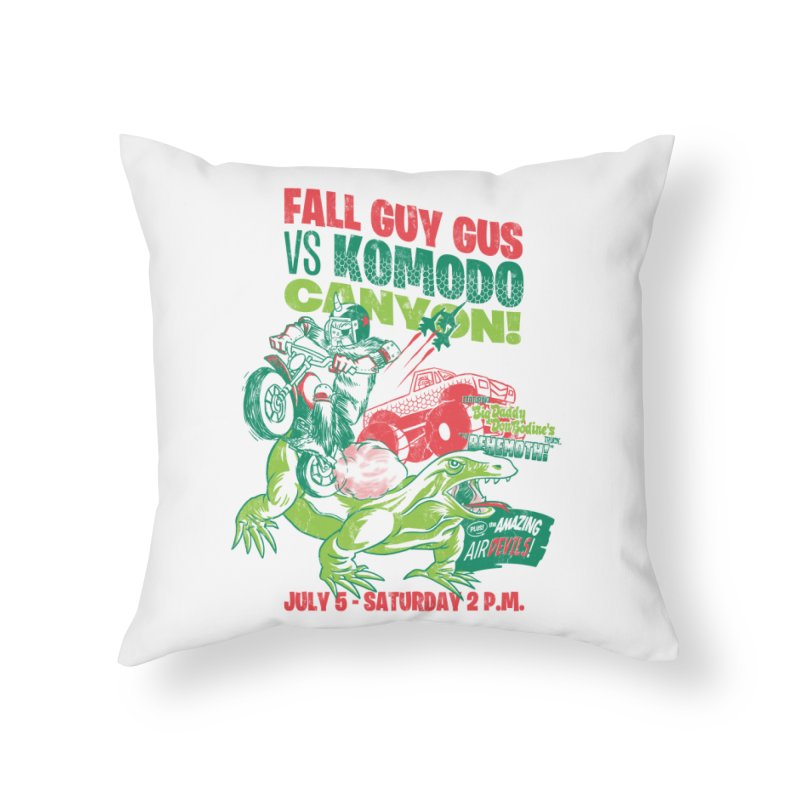 Fall Guy Gus Home Throw Pillow by Gimetzco's Damaged Goods