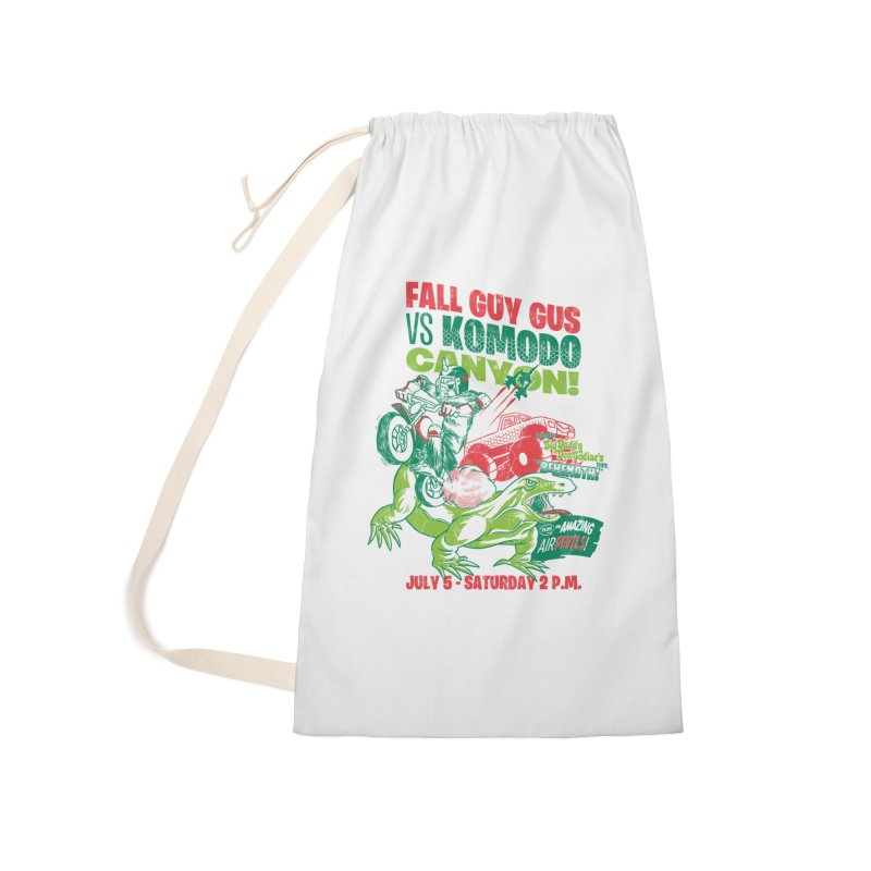 Fall Guy Gus Accessories Laundry Bag Bag by Gimetzco's Damaged Goods