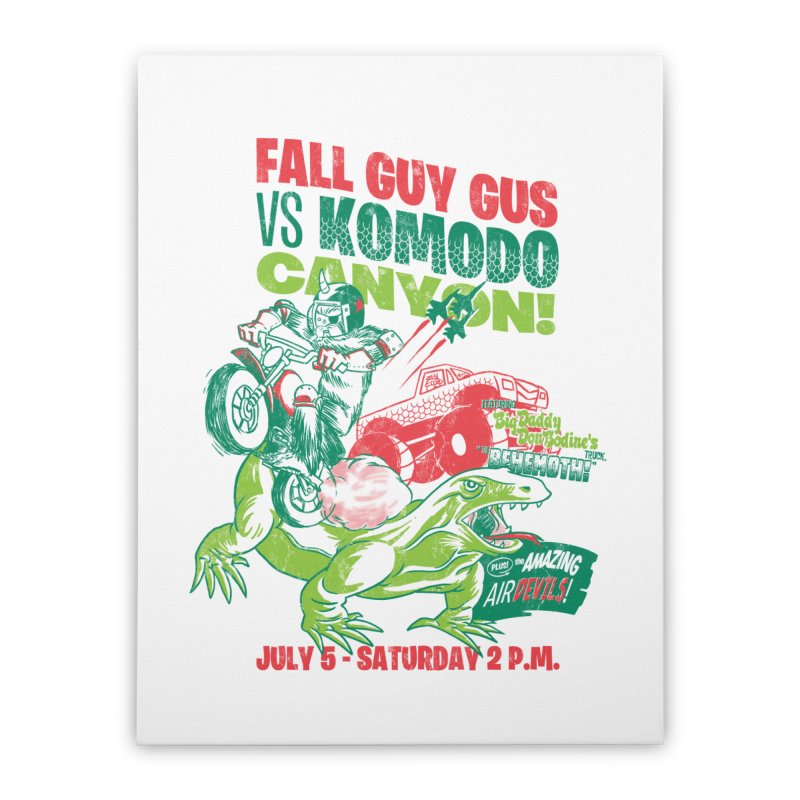 Fall Guy Gus Home Stretched Canvas by Gimetzco's Damaged Goods