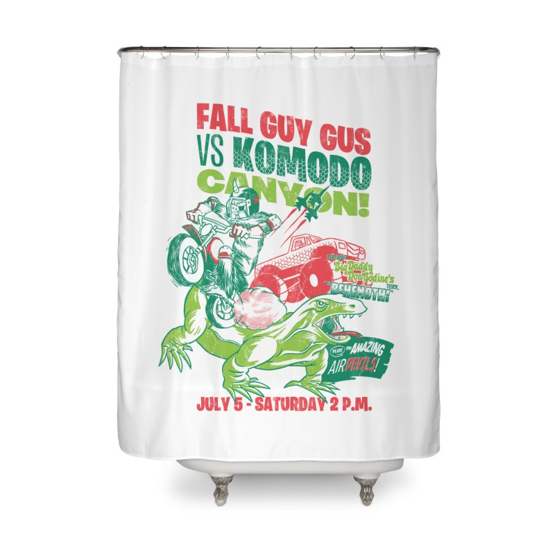 Fall Guy Gus Home Shower Curtain by Gimetzco's Damaged Goods