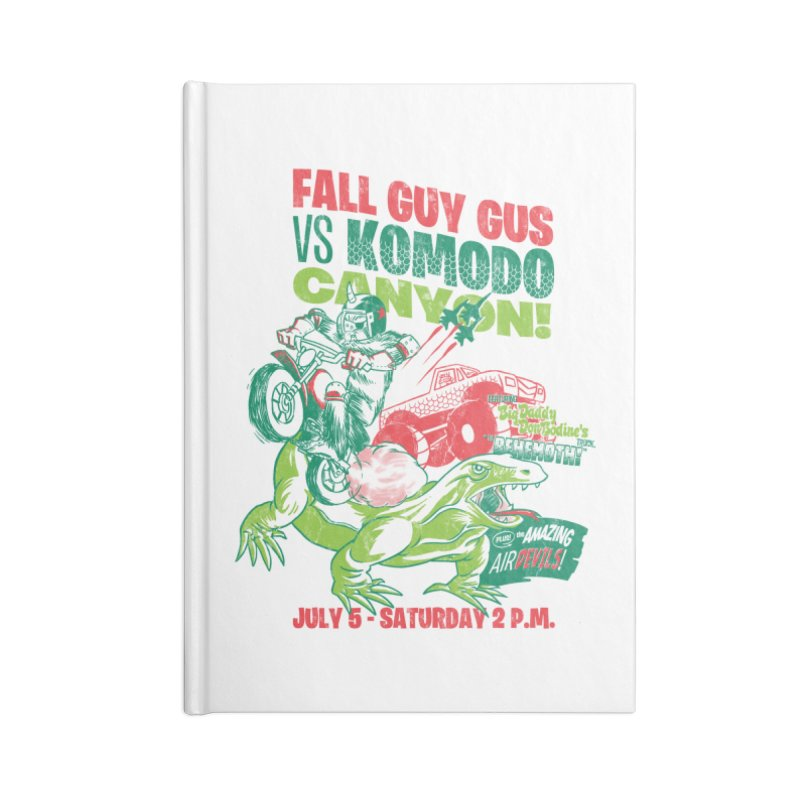 Fall Guy Gus Accessories Lined Journal Notebook by Gimetzco's Damaged Goods