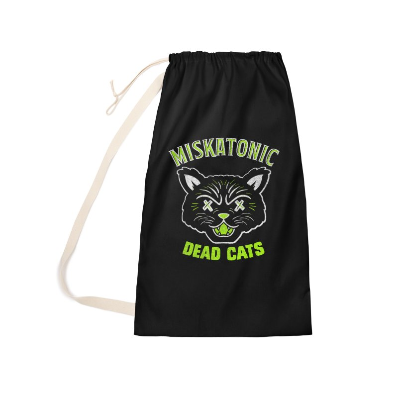 MISKATONIC DEAD CATS Accessories Laundry Bag Bag by Gimetzco's Damaged Goods