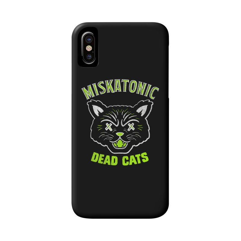 MISKATONIC DEAD CATS Accessories Phone Case by Gimetzco's Damaged Goods