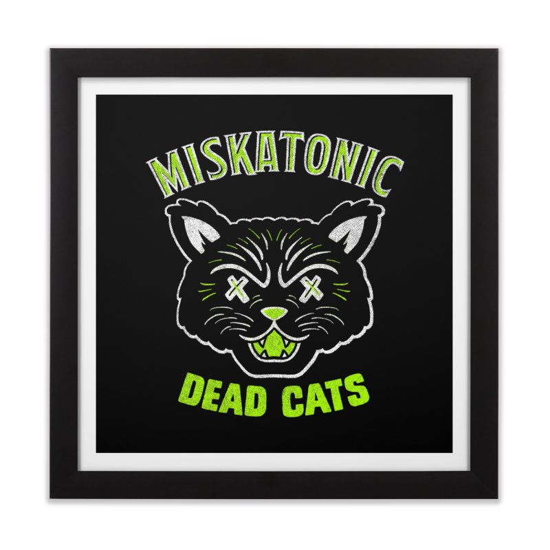 MISKATONIC DEAD CATS Home Framed Fine Art Print by Gimetzco's Damaged Goods