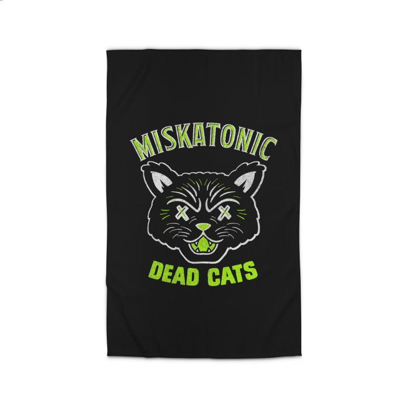 MISKATONIC DEAD CATS Home Rug by Gimetzco's Damaged Goods