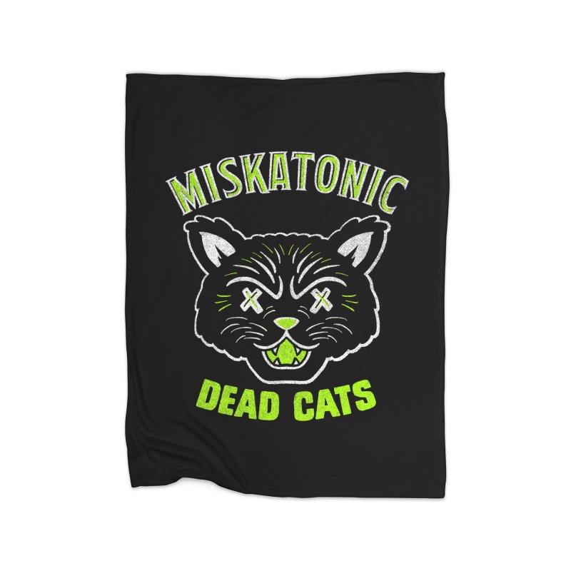 MISKATONIC DEAD CATS Home Fleece Blanket Blanket by Gimetzco's Damaged Goods