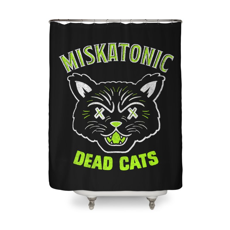MISKATONIC DEAD CATS Home Shower Curtain by Gimetzco's Damaged Goods