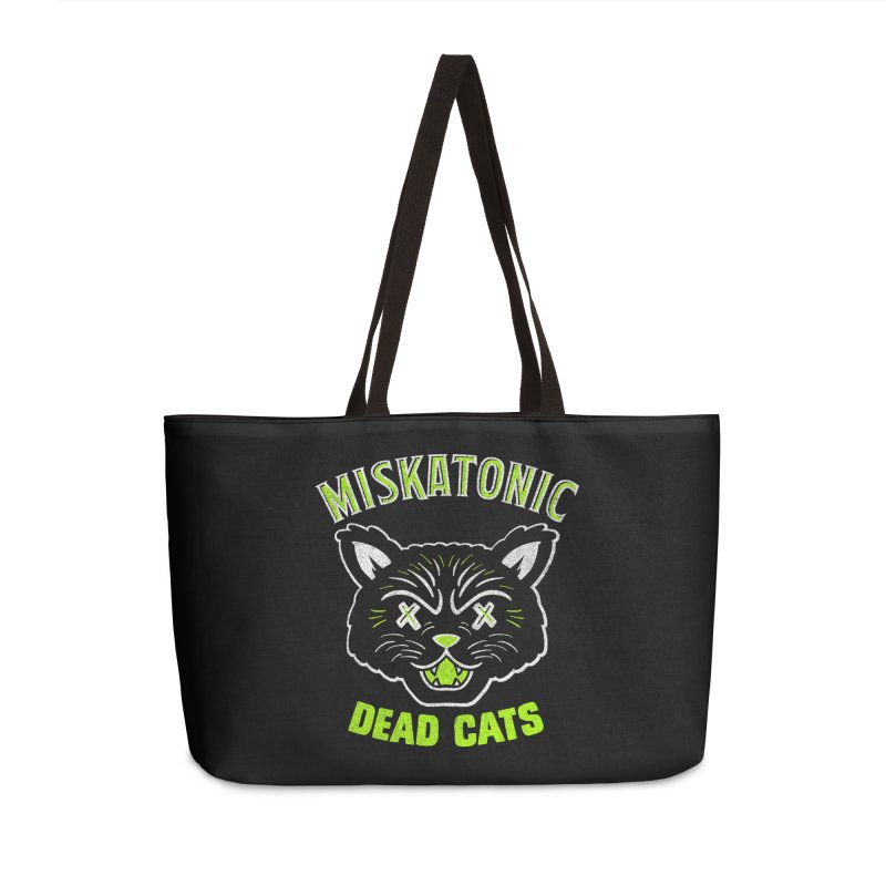 MISKATONIC DEAD CATS Accessories Weekender Bag Bag by Gimetzco's Damaged Goods