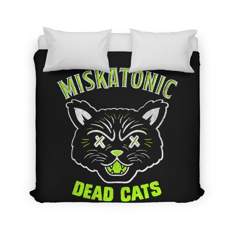 MISKATONIC DEAD CATS Home Duvet by Gimetzco's Damaged Goods