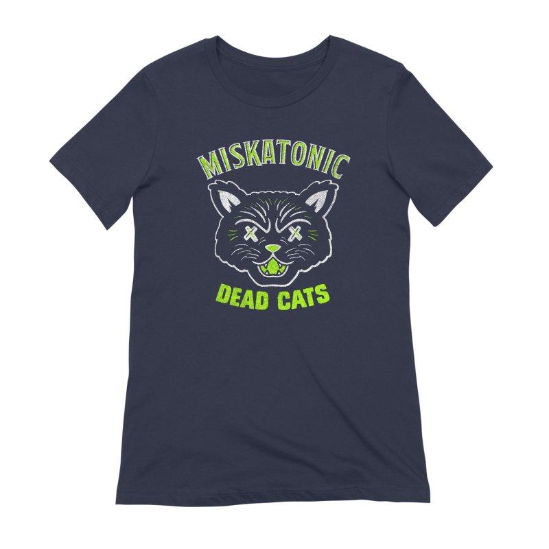 MISKATONIC DEAD CATS Women's Extra Soft T-Shirt by Gimetzco's Damaged Goods