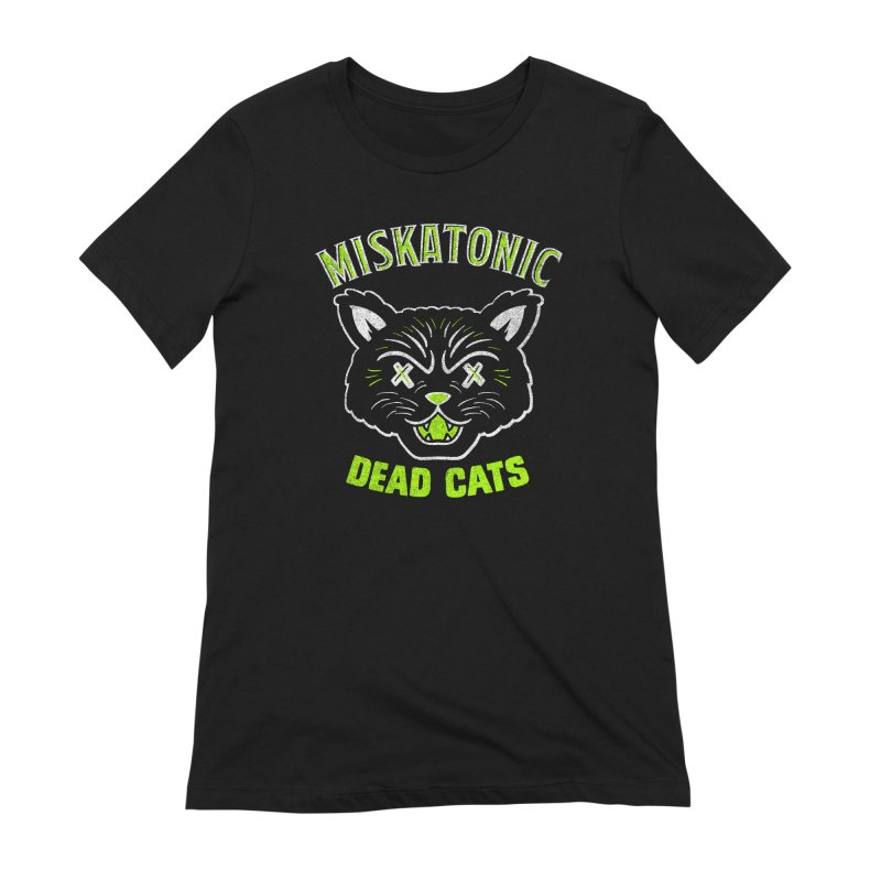 MISKATONIC DEAD CATS Women's Extra Soft T-Shirt by Gimetzco's Damaged Goods